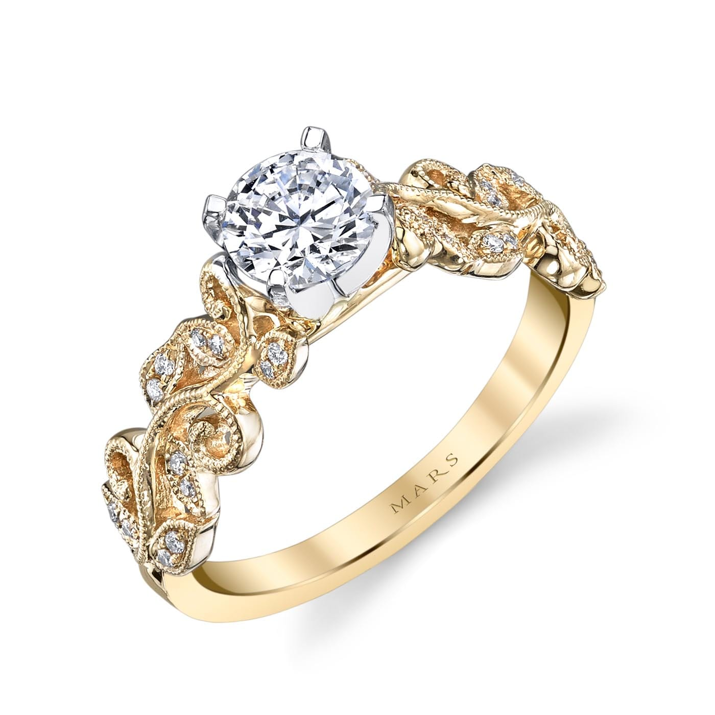 Floral Engagement RingStyle #: MARS 26504