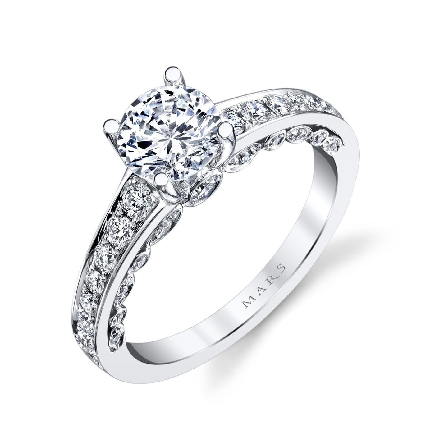 Modern Engagement RingStyle #: MARS 26545