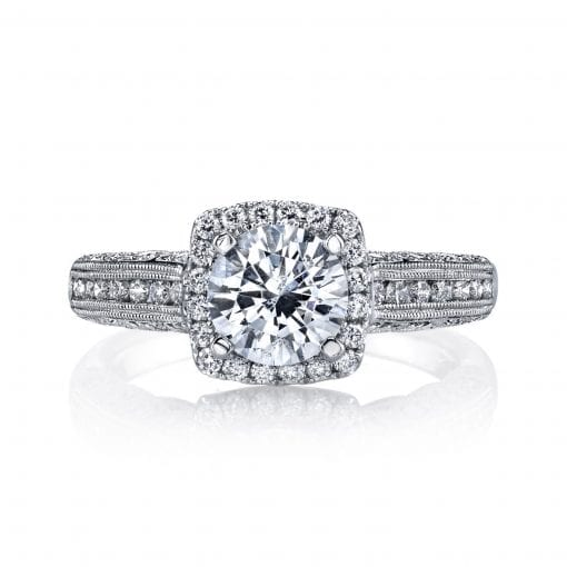 Halo Engagement Ring<br>Style #: MARS 26701
