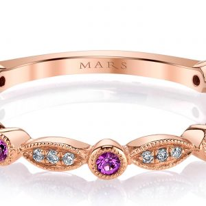 Diamond & Saphire Ring - Stackable  Style #: MARS-26935RGPS
