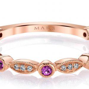 Diamond & Saphire Ring - Stackable  Style #: MARS-26935RGPS