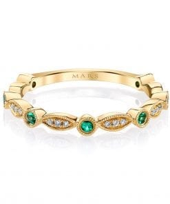 Diamond & Emerald Ring - Stackable  Style #: MARS-26935YGEM