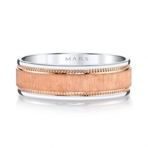 Mixed Metal Men's Wedding Band<br>Style #: MARS G100
