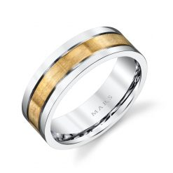Mixed Metal Men's Wedding BandStyle #: MARS G103
