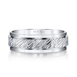 Modern Men's Wedding BandStyle #: MARS G104