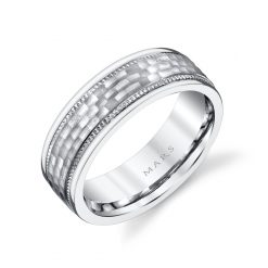 Modern Men's Wedding BandStyle #: MARS G105