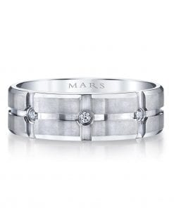 Modern Diamond Men's Wedding BandStyle #: MARS G108