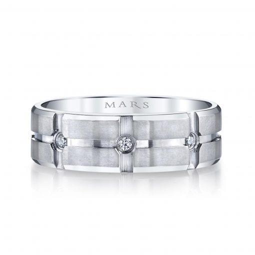 Modern Diamond Men's Wedding Band<br>Style #: MARS G108