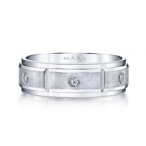 Modern Diamond Men's Wedding Band<br>Style #: MARS G109