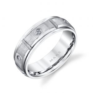 Modern Diamond Men's Wedding BandStyle #: MARS G109