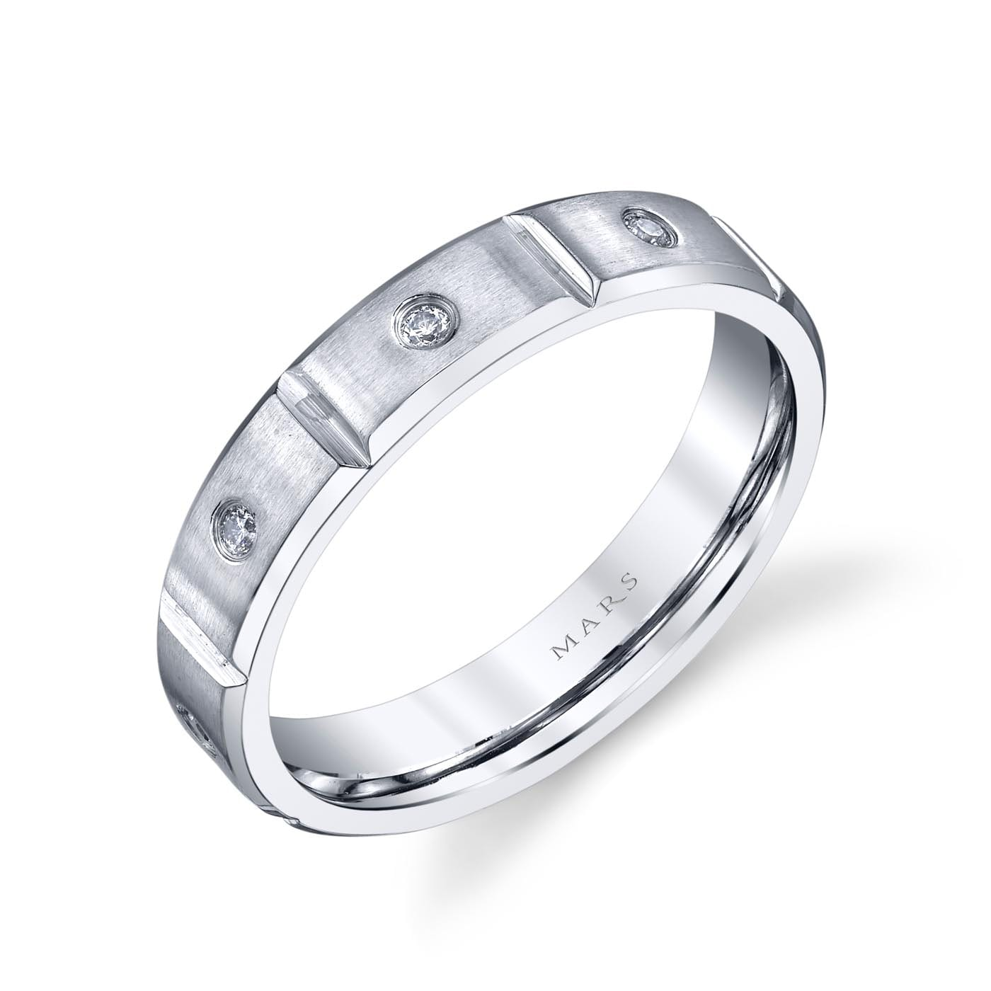 Modern Men's Wedding BandStyle #: MARS G110