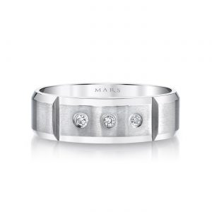 Modern Diamond Men's Wedding BandStyle #: MARS G111