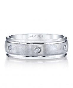 Modern Diamond Men's Wedding BandStyle #: MARS G112