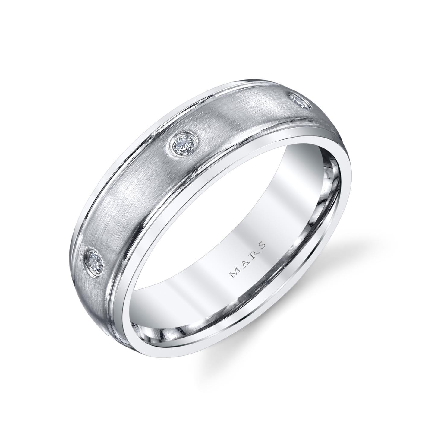 Modern Diamond Men's Wedding BandStyle #: MARS G112