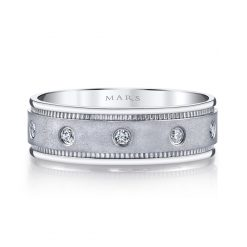 Modern Diamond Men's Wedding BandStyle #: MARS G113
