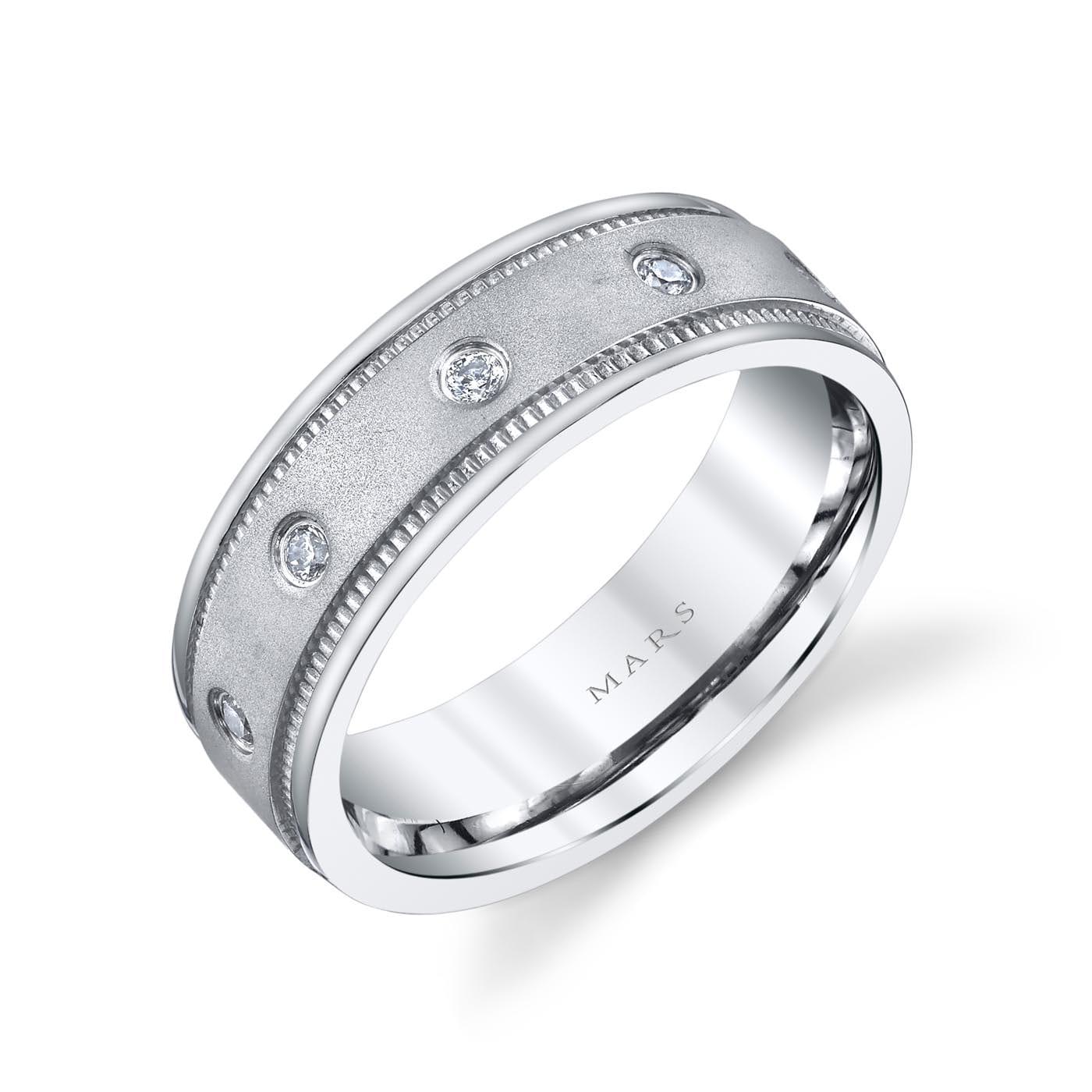 Modern Diamond Men's Wedding BandStyle #: MARS G113