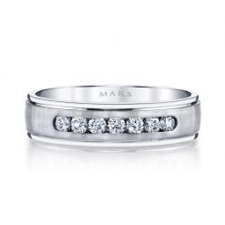 Embellished Diamond Men's Wedding BandStyle #: MARS G114