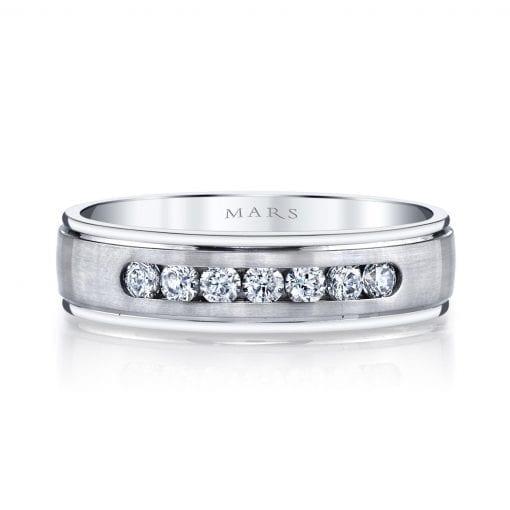 Embellished Diamond Men's Wedding Band<br>Style #: MARS G114