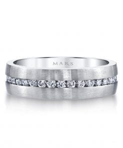 Embellished Diamond Men's Wedding BandStyle #: MARS G115