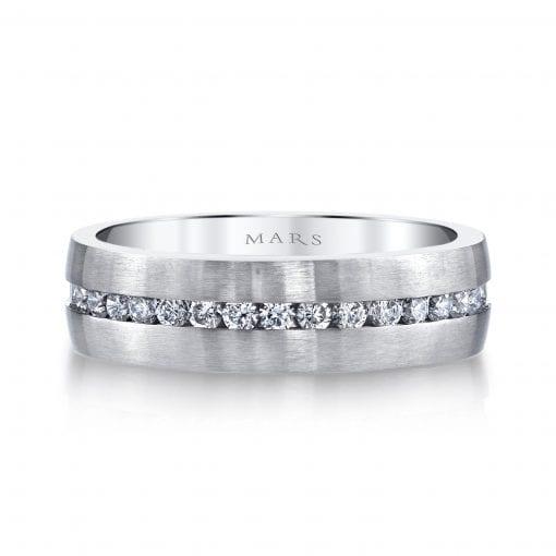 Embellished Diamond Men's Wedding BandStyle #: MARS G115