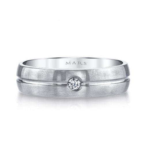 Classic Diamond Men's Wedding Band<br>Style #: MARS G116