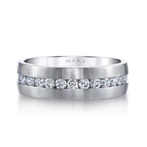 Modern Diamond Men's Wedding BandStyle #: MARS G117