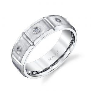 Modern Diamond Men's Wedding BandStyle #: MARS G118