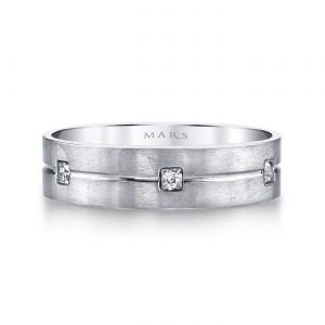 Modern Diamond Men's Wedding BandStyle #: MARS G119