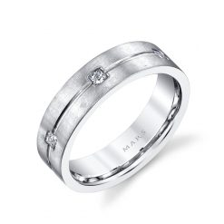 Modern Diamond Men's Wedding BandStyle #: MARS G119