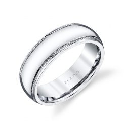 Modern Men's Wedding BandStyle #: MARS G123