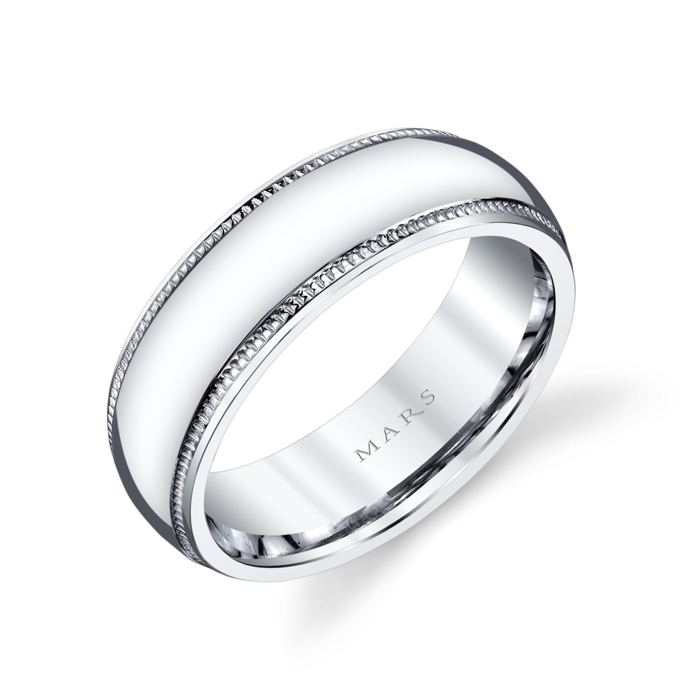 Modern Men's Wedding BandStyle #: MARS G123