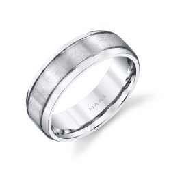 Modern Men's Wedding Band<br>Style #: MARS G126