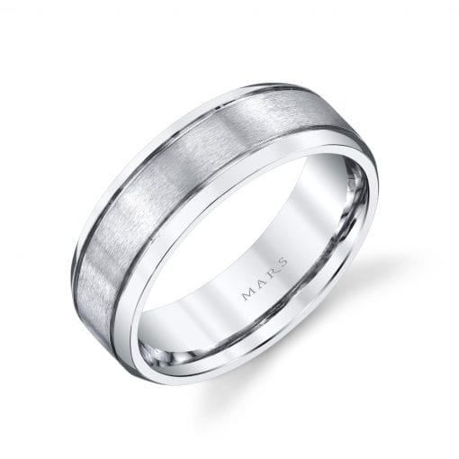 Modern Men's Wedding BandStyle #: MARS G126
