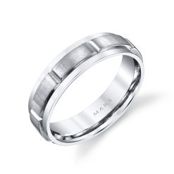 Modern Men's Wedding Band<br>Style #: MARS G127