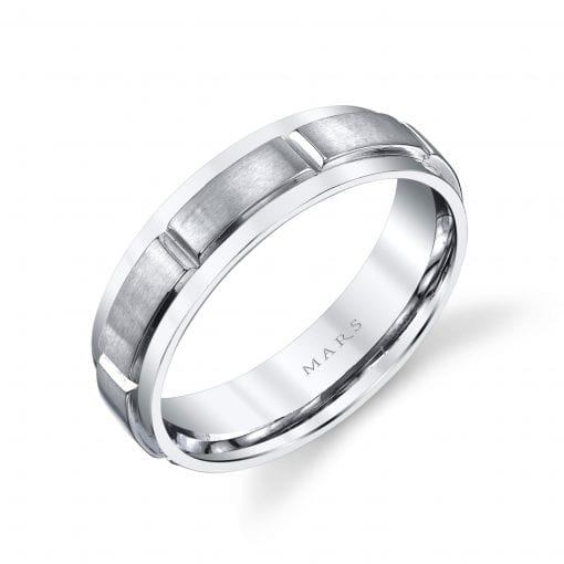 Modern Men's Wedding BandStyle #: MARS G127