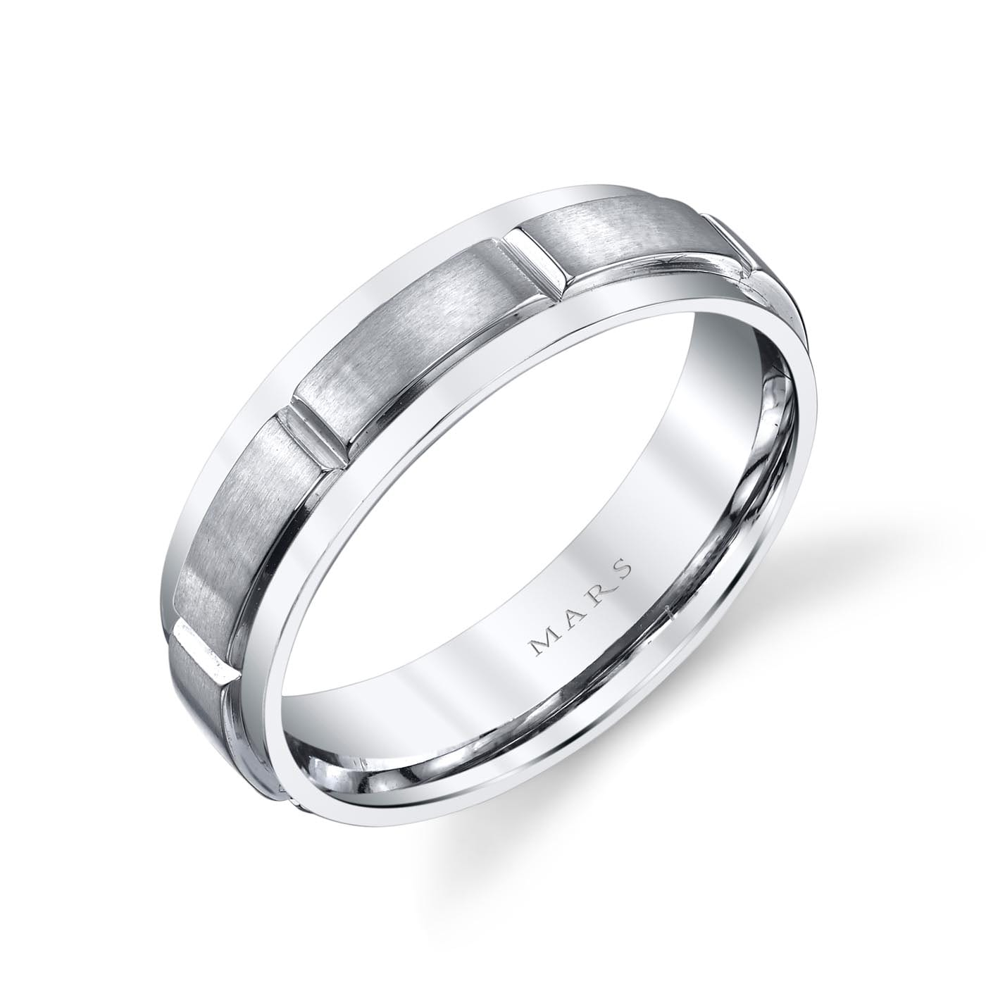 Modern Men's Wedding BandStyle #: MARS G127