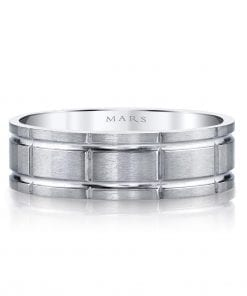 Modern Men's Wedding BandStyle #: MARS G129