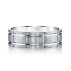 Modern Men's Wedding BandStyle #: MARS G129