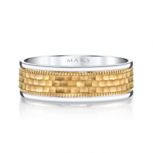 Mixed Metal Men's Wedding BandStyle #: MARS G132