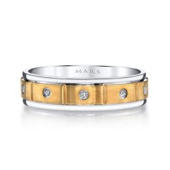 Mixed Metal Men's Wedding BandStyle #: MARS G134