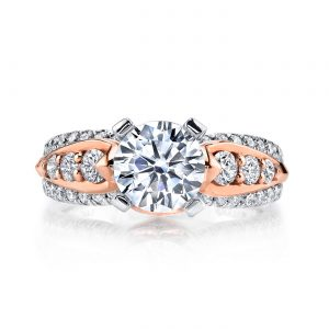 Mixed_Metal Engagement RingStyle #: MARS R253