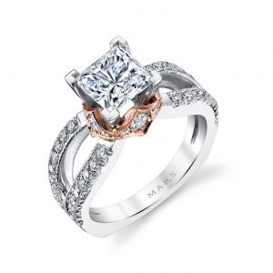 Mixed_Metal Engagement RingStyle #: MARS R255