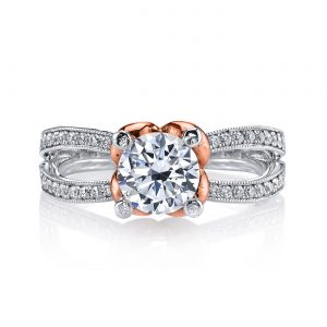 Floral Engagement RingStyle #: MARS R256