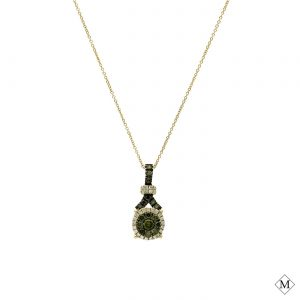 Unique Green Diamond PendantStyle #: AN-PP1277