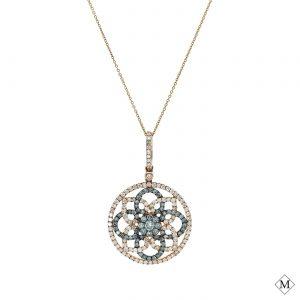 Unique Blue Diamond PendantStyle #: AN-PP266