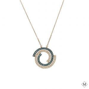 Unique Blue Diamond PendantStyle #: AN-PP343