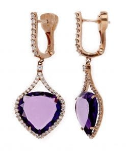 Unique Amethyst EarringsStyle #: ANC-4276
