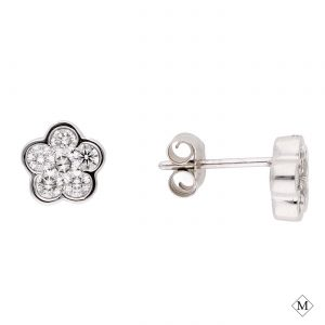Floral Diamond EarringsStyle #: MD-EAR10002
