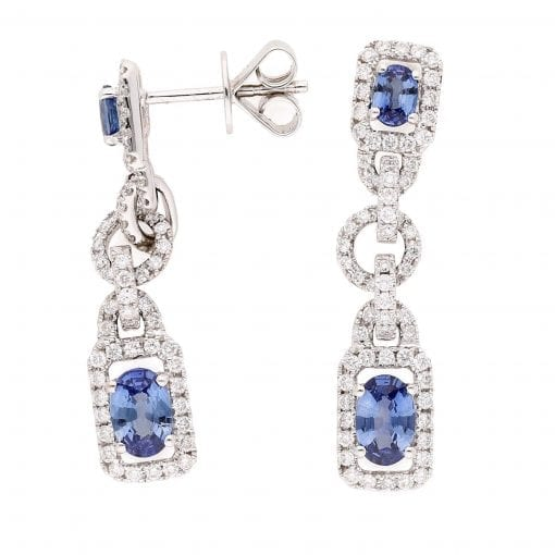 Classic Sapphire Earrings<br>Style #: PD-LQ2861E