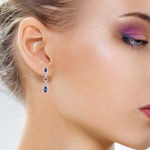 Classic Sapphire EarringsStyle #: PD-LQ2861E